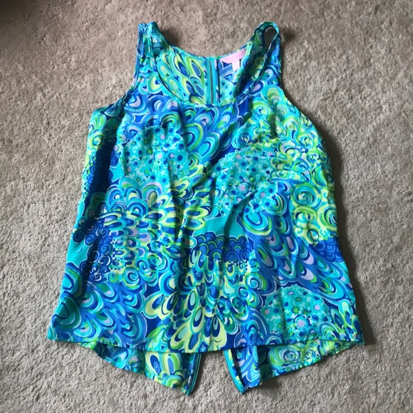 Lilly Pulitzer Tops - Lily Pulitzer zip up back top